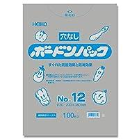 【穴無し野菜果物袋】 ポリ袋 ボードンパック 穴なしタイプ 厚み0.02mm No.12 100枚 【OPP防曇袋】