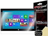 TECHGEAR [3 Stück Bildschirmschutz für Microsoft Surface RT/Surface Pro - Ultra Klare Schutzfolie für Microsoft Surface RT, Surface Pro - mit Reinigungstuch + Applikationskarte