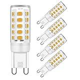Brantoo G9 LED Licht Glühbirnen Dimmbar Warmweiß 4W Birne Gleichwertig 25W 28W 33W 40W Halogen Lampe, 380LM, 3000K, AC 220-240V, kein Flimmern, G9 Sockel für Kristall Decke Lichter, 5er Pack