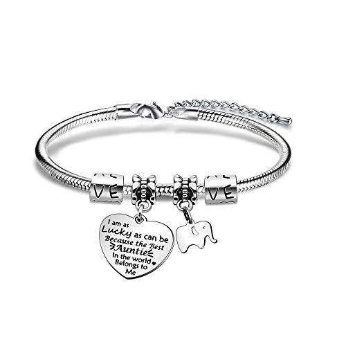 BHXRODE Aunt Bracelet Appreciation Birthday Christmas Gift Women Bangle Family Jewelry Engraved Best...