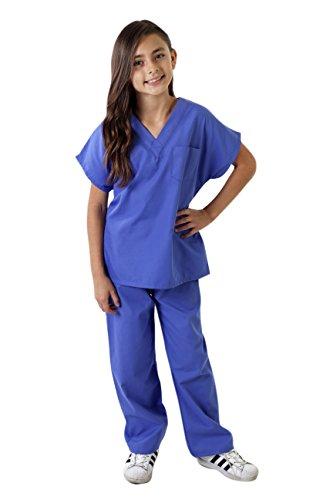 Natural Uniforms Childrens Costumes Scrub Set-Soft Touch (Ceil Blue, 5/6)