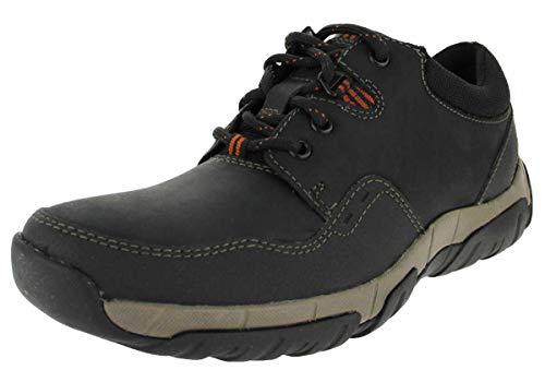 Clarks Herren Walbeck Edge II Derbys Schwarz (Black Leather) 44.5 EU