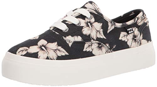 Billabong Women's Cruiser Slip-On Canvas Shoe Sneaker, White/Black, 8.5