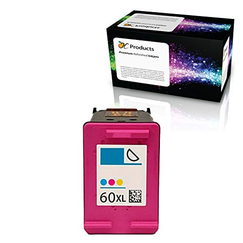 OCProducts Refilled Ink Cartridge Replacement for HP 60XL Color for Envy 120 114 Deskjet F4480 F4210 D1660 F4400 Printers (1 Color)