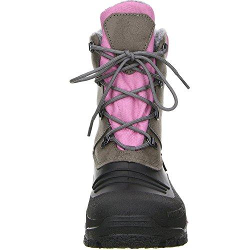 SPIRALE Damen Winterstiefel Snowboots schwarz/braun/rosa, Größe: 39 Farbe: Rosa - 4