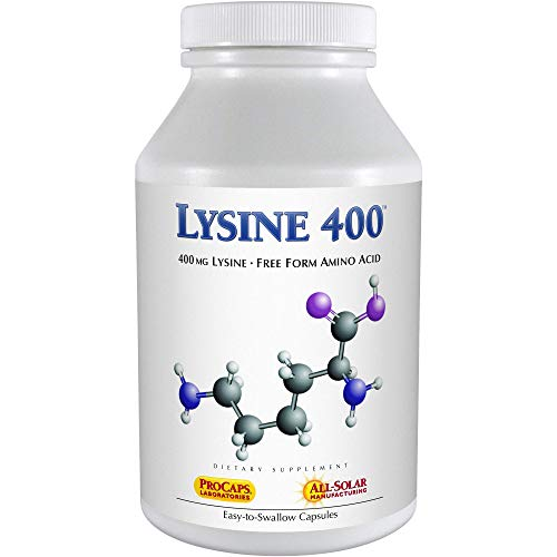 Andrew Lessman Lysine 400 - 360 Capsules – Natural Source of 100% Pure Essential Amino Acid. Supports Fat Burning and Energy Metabolism. Supports Bones, Joints, Connective Tissue. No Additives