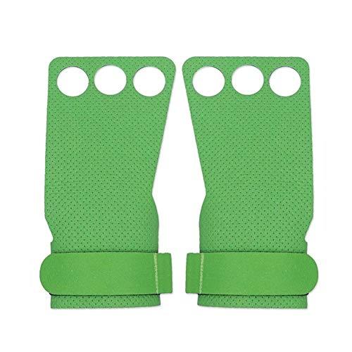 YANODA Fitness Poids Gants De Levage Workout Main Poignées Gants for Tractions Kettlebells Dumbell Culturisme Gym Accessoires Protect Hands (Color : Type B Green, Size : XL)