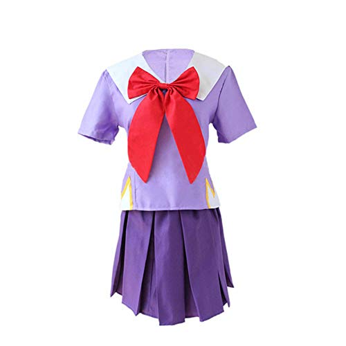 XCJLW The Future Diary Gasai Yuno Set 2nd Cosplay Costume Mirai Nikki School Uniform Suit (L, Uniform)
