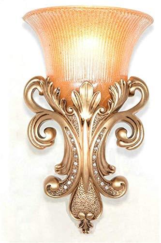 N / A Lámpara de la lámpara de Cristal de la Pared de la lámpara Vieja Pared de Cristal salón Moderno Espejo de Pared Europea habitación de Hotel iluminación LED Fabricantes (Dimensiones, Oro),Oro
