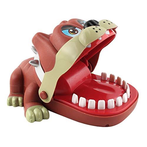 STOBOK Lustige Tier Beißen Finger Spielzeug Zähne Zahnarzt Beißen Finger Spielzeug Spiel Elektrische Hundespielzeug für Kinder Kleinkinder Kinder