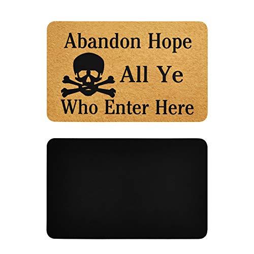 Imanes Cuadrados de Colores Abandon Hope All Ye Who Enter Here Skull Lavavajillas Cubierta de imán Imán Personalizado para refrigerador de PVC Accesorios Divertidos de Cocina 4x2.5 Pulgadas