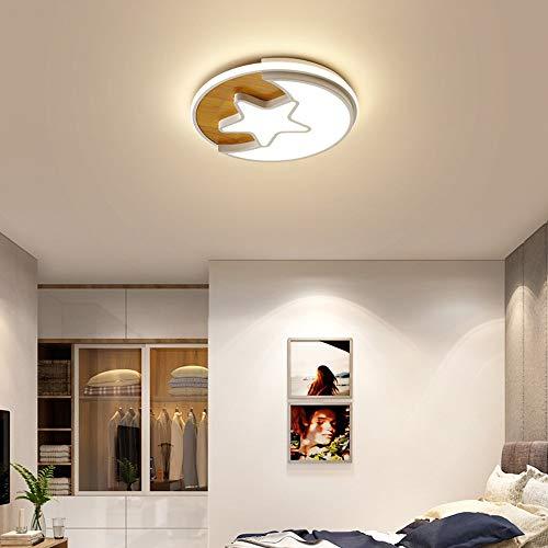luz de techo LCSD Personalidad Estrellas De Dibujos Animados Luna Redondo Blanco Hardware Material Acrílico Lámpara De Araña Tamaño 52 Cm * 6 Cm Lámpara De Techo Lámparas Y Linternas Cafetería Bar Por