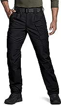 CQR CLSX Men's Tactical Pants, Water Repellent Ripstop Cargo Pants, Lightweight EDC Hiking Work Pants, Outdoor Apparel, Duratex Mag Pocket Black, 36W x 30L