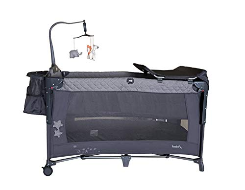 Cuna de Viaje Plegable Star Ibaby Sleep & Play. Doble Altura +...