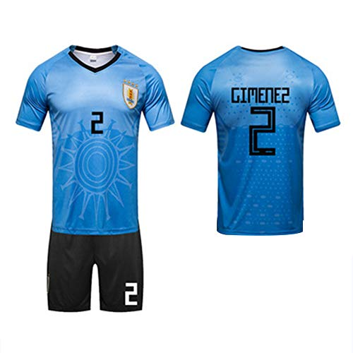2018 World Cup 32 starke Uruguay Suarez Cavani Fußball passt Team Trikots (L-3XL)-1-XXXL
