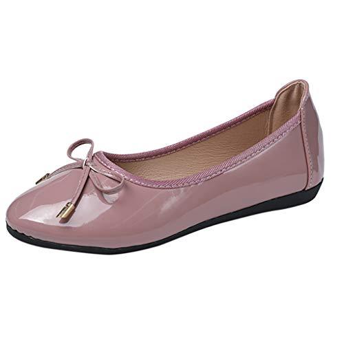 Inawayls Damen Basic Geschlossene Ballerinas Klassische Komfort Ballerinas Frauen Business Work Flache Schuhe