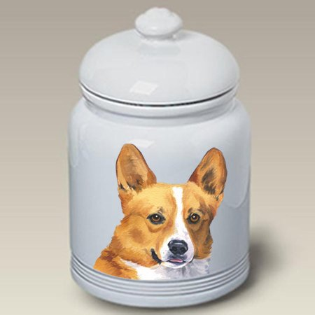 Lowest Prices! Best of Breed Corgi Pembroke Welsh T/W - Barbara Van Vliet Ceramic Treat Jars