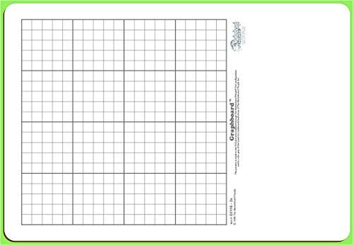 30 Student GRAPHBOARD Combo Pack Double Sided, with Dry Erase Boards, Markers & Student Erasers,...