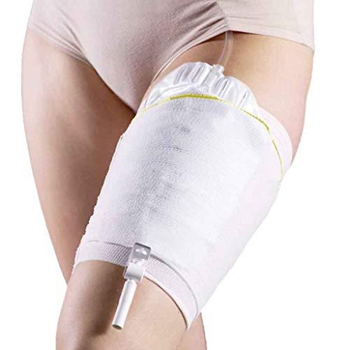 Beinbeutel für Urin Beinhalter Sleevehalterung Harninkontinenz Zubehör Komfortabel Beinbeuteltasche Carebag waschbar und wiederverwendbar (2 Stück)-L