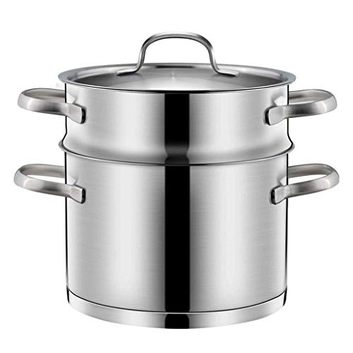 YILIAN Stainless Steel Double Boiler and Steamer Set Steamer Cookware Pot Saucepot Multi-Layer Boiler