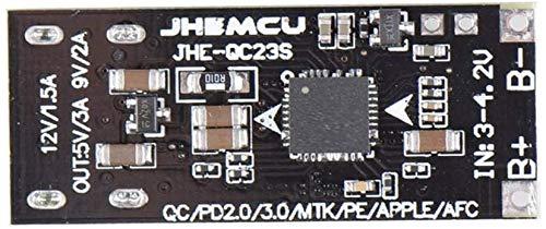 DIAN317 Cargador de teléfono móvil JHE-QC23S Voltaje BOOSTEP DEPLA STEP UP Módulo de carga USB 3.7V a 5V 9V 12V QC2.0 / 3.0 Módulo de experimento científico del cargador del teléfono móvil QC2.0 / 3.0