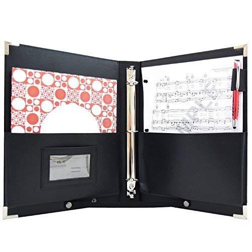 MSP Sheet Music Holder   9.5' x 12' - 3 Rings Choir Folder with Hand Strap - 2020 Upgraded Version (MSP-210)