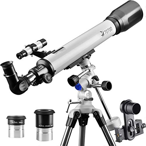 Telescope, Telescopes for Adults 70EQ Refractor Scope - Professional 70mm Aperture and 700mm Focal Length for Student Kids Adults Beginners - Come with a Smartphone Adapter