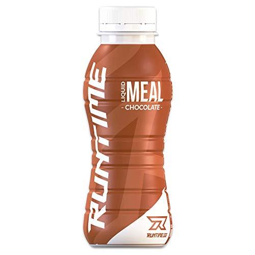 Runtime Liquid Meal - Chocolate | Vollwertiger Mahlzeitersatz, lange Sättigung & Leistungsfähigkeit | 23 Vitamine & Mineralien | 24 x 330ml