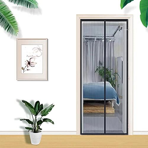 Fliegengitter Tür Insektenschutz Magnet Fliegenvorhang Moskitonetz für Balkontür Wohnzimmer Terrassentür (90-210-A)