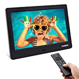 Digital Picture Frame, YENOCK 7 Inch IPS Screen Digital Photo Frame 1024x600 Pixels High Resolution Photo/Music/HD Video Player/Calendar/Alarm Auto On/Off Advertising Player with Remote Control