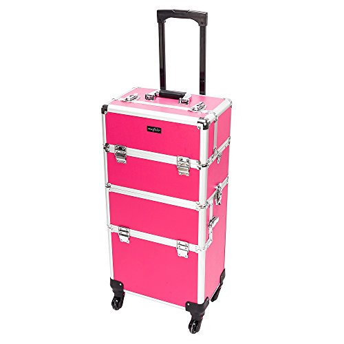 2-in-1 Rolling Makeup Train Case