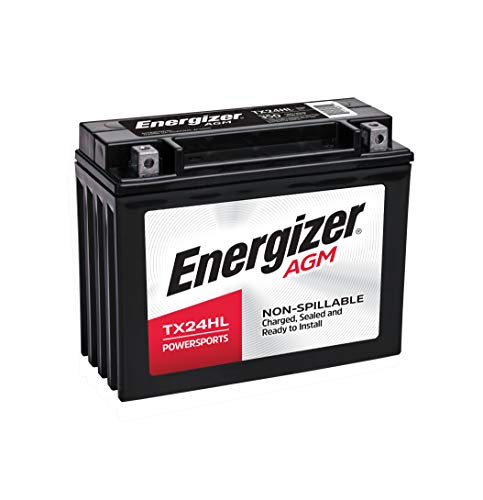 Energizer TX24HL AGM Motorcycle and ATV 12V Battery, 350 Cold Cranking Amps and 21 Ahr, Replaces: YTX24HL-BS and others