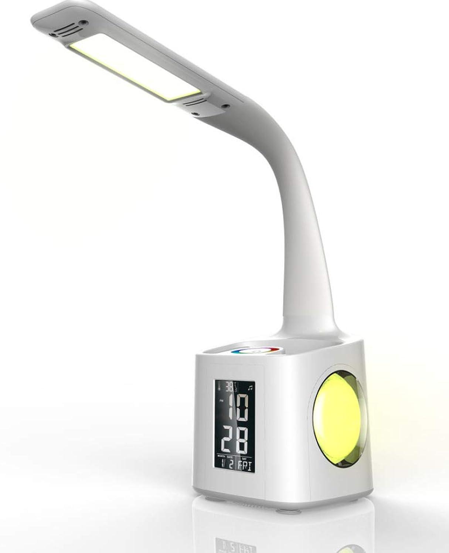 Skoy iyue LED-Tischlampe Multi-Funktions-Kinder-Schüler Lernen Lesen Zeit Stifthalter Augenschutz Intelligenz,B-2