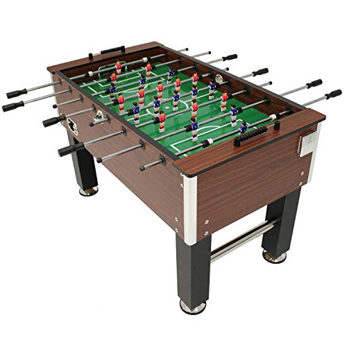Sunnydaze 55-Inch Faux Wood Foosball Table with Folding...