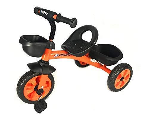 All Road Trikes Kinder 3-Rad Pedale Trike - in Orange - mit Front und Hinten Korb - für Altersklasse 3-5 Jahre
