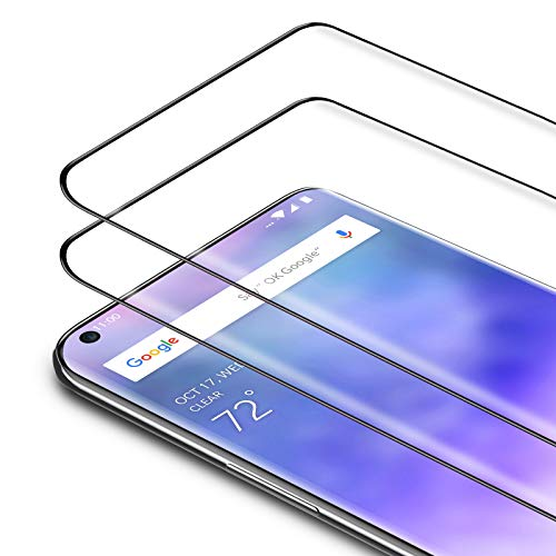 Bewahly Panzerglas Schutzfolie für Xiaomi Mi Note 10 / Note 10 Pro/Note 10 Lite [2 Stück], 3D Curved Full Cover Panzerglasfolie Ultra Dünn HD Bildschirmschutzfolie 9H Festigkeit Glas Folie - Schwarz