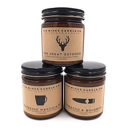 The Men's Collection Candle Gift Set || 3-4oz. or 9oz....