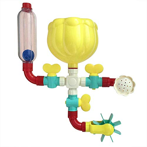 Badespielzeug Für Kinder,Kleinkind Badespielzeug Set Blume Wasserstation Puzzle Spielzeug Rotierende Spray Wasser Spielzeug Geburtstagsgeschenke Für Kinder