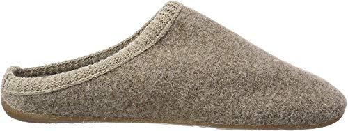 Haflinger Dakota Classic, Pantoffeln, Unisex-Erwachsene, Walkstoff aus reiner Wolle, Beige (Beigemeliert 46)40 EUBeige (Beigemeliert 46), 40 EU