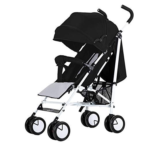 Parapluie Poussette Pliante légère - Poussette Pratique et compacte - Siège inclinable - Auvent ensoleillé - Voyage - du bébé à l'enfant en Bas âge