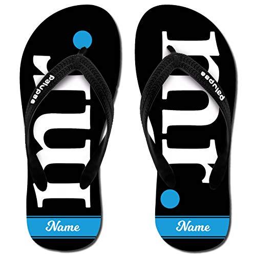 Palupas Personalisiertes Hochzeitsgeschenk, selbst gestalten mit Namen – Mr. Flip Flops für den Bräutigam, individuell Bedruckt inkl. GRATIS Schuhbeutel