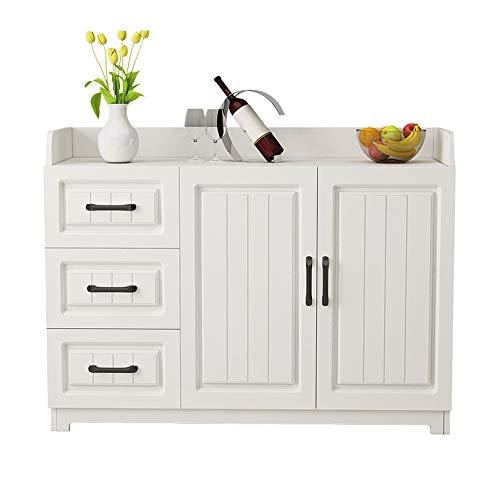 JOMSK Aparador Prestigio de Almacenamiento Pecho contemporánea Aparador Buffet Servidor Credenza Cocina Comedor Gabinete Armario (Color : White, Size : 120x40x80cm)