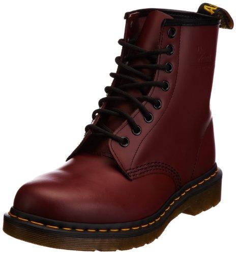 Dr. Martens Damen 1460 Classic Schnürsenkel Leder Fußwurzel Armee Stiefels - Rot - 42