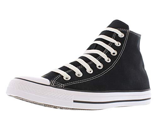 Converse Unisex Chuck Taylor All Star High Top Sneakers Black/White US Men's 8 D(M) / US Women's size 10 B(M)