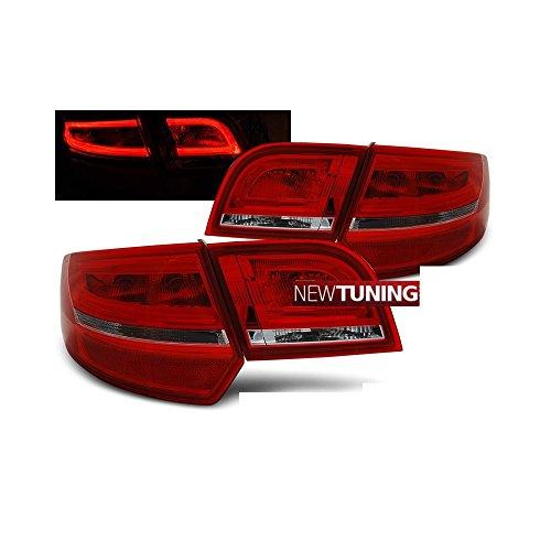 Faros traseros LED para Audi A38P Sportback 2004–2008,color rojo / transparente