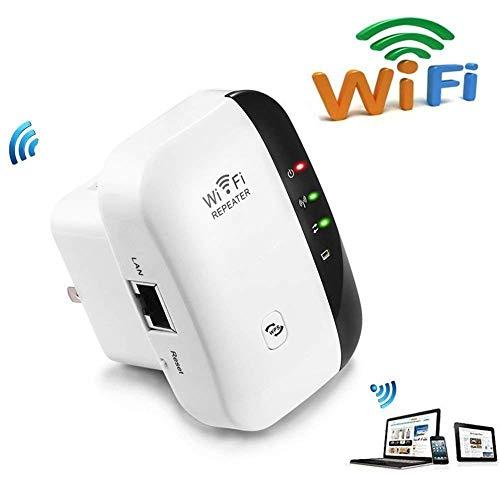 Hozora Amplificador de Alcance WiFi Super Booster 300 Mbps Superboost Velocidad inalámbrica de Velocidad, Amplificador de Refuerzo de señal de Internet de 2.4GHz