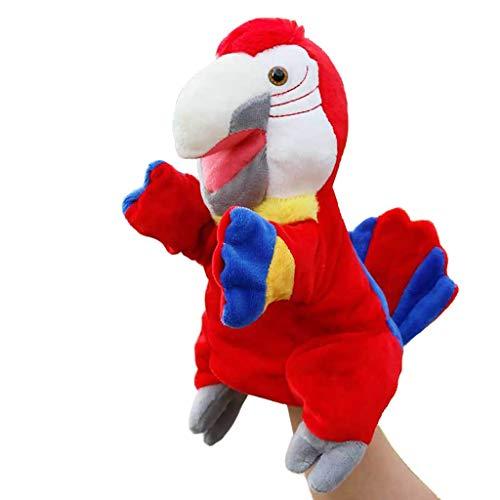 Marionetas de Peluche Red Parrot marioneta de mano - 30 cm (11,8