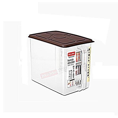 J+N JN bewaardozen, rechthoekig verzegeld bewaardozen met deksels, transparante plastic bewaardozen voor voedsel - 9 l