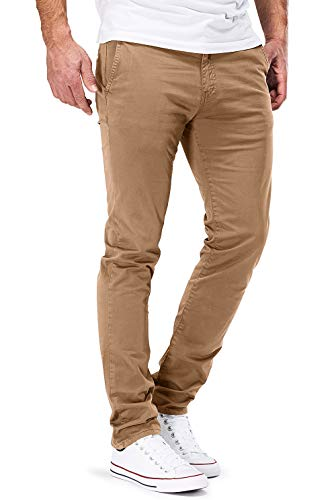 DSTROYED ® Chino Herren Slim fit Chinohose Stretch Designer Hose Neu 505 (36-32, 505 Braun)