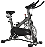 MEVEM Exercise Bike Stationary, Quiet Magnetic Indoor Cycling Bike Belt Drive Exercize Bike for Home Gym Workout, Comfortable Seat and LCD Monitor